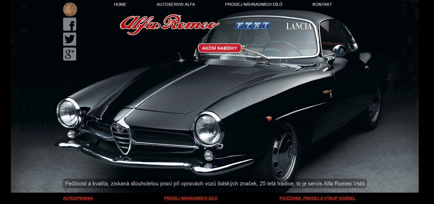 Alfa Romeo 26 let autoservisu