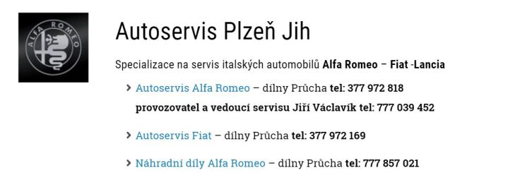 autoservis Plzeň Jih