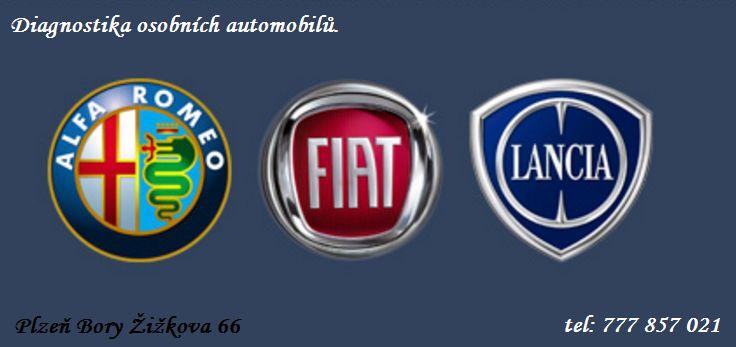 diagnostika Alfa Romeo Fiat Lancia Plzeň