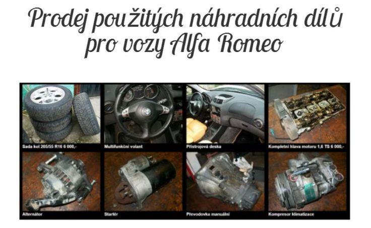 použité díly Alfa Romeo