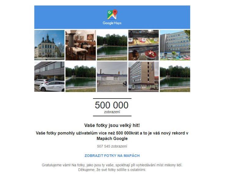 zápisy a fotografie v Google maps