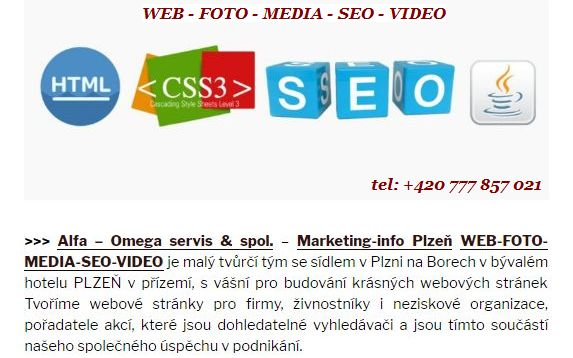 WEB - FOTO - MEDIA - SEO - VIDEO